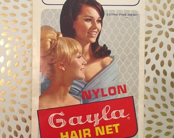 1950s NYLON GAYLA // Hair Net w/ Elastic