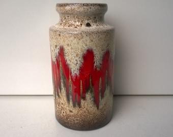 Scheurich, Art Vase, Nr 203-18, Decor Lora, West German Pottery, 1971