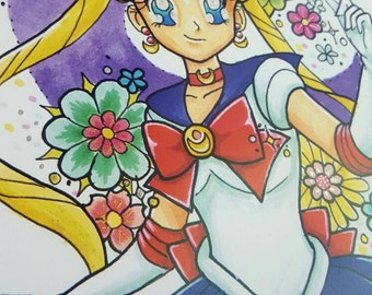 Sailor moon LIMITED EDITION shiny/glitter detail prints