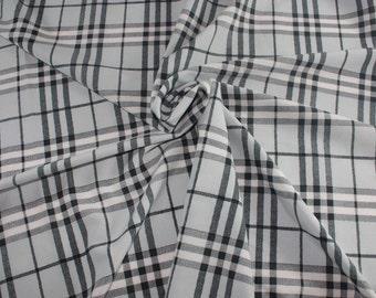 """Faux Silk Plaid fabric Gingham Tartan W60"""" by yard Quilting Sew Craft Decor FS"""