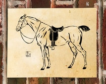 KillerBeeMoto: Limited Release Thoroughbred Horse Print 1 of 50