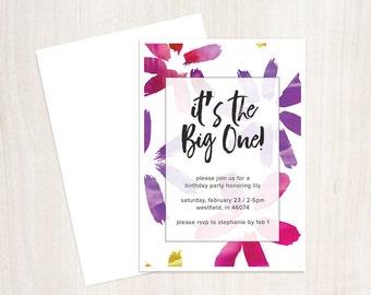 PRINTABLE It's The Big One Birthday Invite
