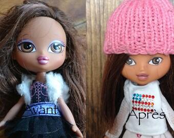 Little orphan doll, recycled, mini Bratz
