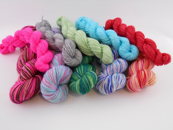 LOVE SOCK auto-rayante,Teinture sur commande, laine chaussette mérinos/nylon, 100g