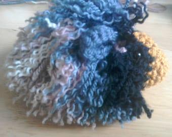 Long haired guinea pig cavy soft toy pet portrait