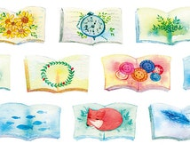 NEW PRE-SALE~ Story Book Washi Tape -- Japanese Washi Tape -Deco tape--25mm x7M