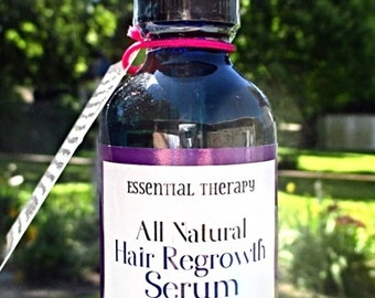 Hair Regrowth Serum - 100% Natural Hair Regrowth Treatment for Thinning Hair