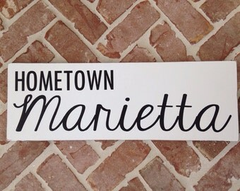 The Hometown sign