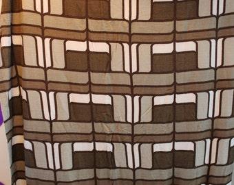 60er 70er Jahre Original 70er Jahre Vorhang Gardine 175 cm x 105 cm Pop Art Psychedelisch Space Age Stoff Panton Visiona Style Design braun