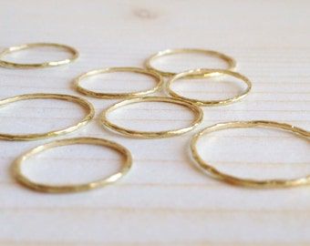 stackable tiny gold rings