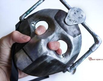 Cybermen moretta mask. Doctor Who handmade Venetian mask. You will be UPGRADE!