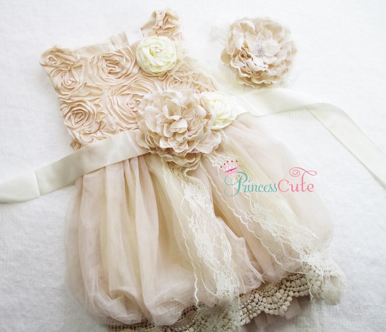 Country Flower Girl Dress Rustic Flower Girl Dresses READY