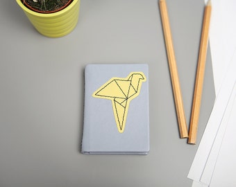"Mini leather notebook ""Origami"""
