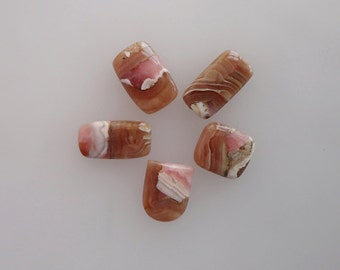 Rhodochrosite lot of 5 Piece, 41ct Wholesale Lot, Natural Gemstone Cabochons AG-531