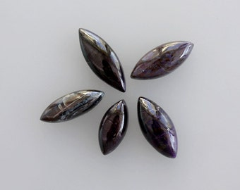 SUGILITE lot of 5 Piece, 34ct Wholesale Lot, Natural Sugilite Gemstone Cabochons AG-345