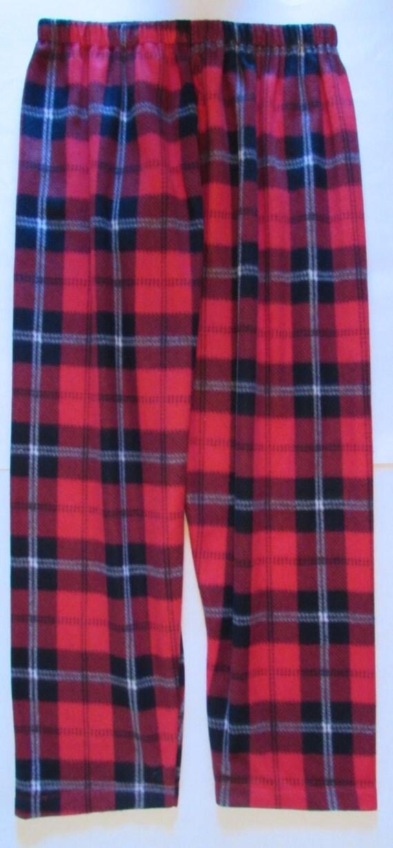 Family pajamas / fleece pants/ warm pants / 6 plaid colors