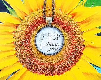 Today I Will Choose Joy Pendant Necklace