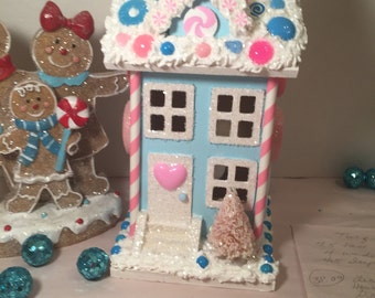 Lighted candy land house.