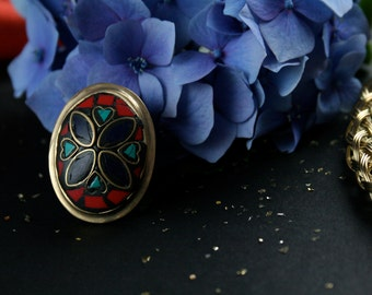 Moroccan Multi-coloured Mosaic Ring