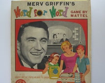 1963 Board Game. Merv Griffin's Word for Word. Complete with Gyro-Timer!