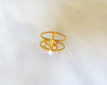 SB 14k Gold Pinky Ring or Midi Ring Santa Barbara