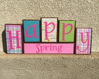 Spring blocks - Happy Spring