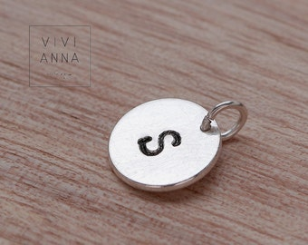 925 Sterling silver stamped letter - P002