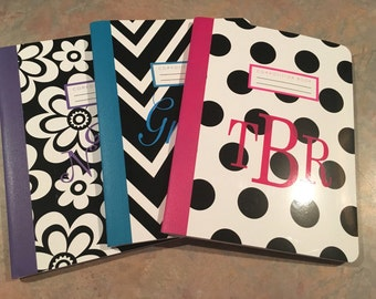 Personalized Composition Book - school supplies - notebook - back to school