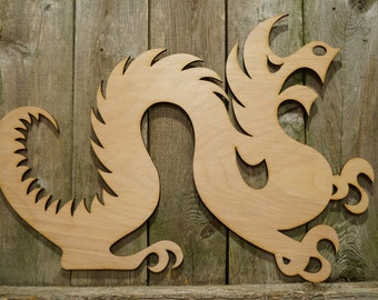 Drexel University Dragons logo wall hanging sign/gift/cutout/laser/door/decor/unfinished/wood/laser/college