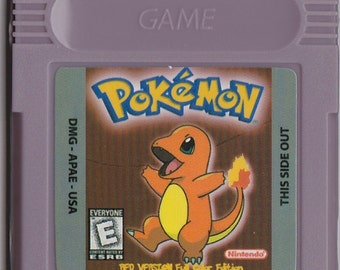 Gameboy Game Boy Color GBC Pokemon Red Version Full Color Edition Customized