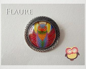 """a round pin '' owl """""""