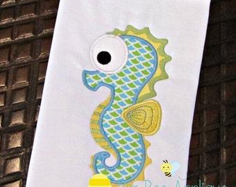 Seahorse Applique Embroidery Design