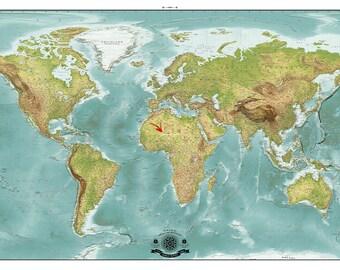 Modern World  Map. 2016  Blemished map