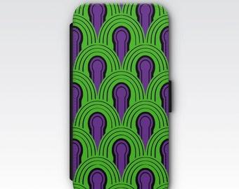Wallet Case for iPhone 8 Plus, iPhone 8, iPhone 7 Plus, iPhone 7, iPhone 6, iPhone 6s, iPhone 5/5s - The Shining Room 237 Carpet Design
