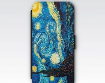 Wallet Case for iPhone 8 Plus, iPhone 8, iPhone 7 Plus, iPhone 7, iPhone 6, iPhone 6s, iPhone 5/5s -  The Starry Night by Vincent Van Gogh