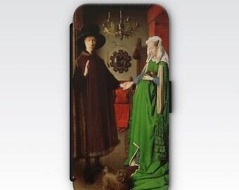Wallet Case for iPhone 8 Plus, iPhone 8, iPhone 7 Plus, iPhone 7, iPhone 6, iPhone 6s, iPhone 5/5s - The Arnolfini Portrait Jan van Eyck