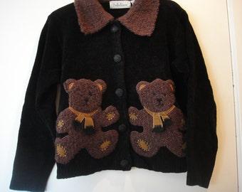 Vintage 90's Teddy Bear sweater
