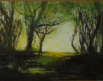"100 run of  limited edition print of mixed media original. ""Selbourne Common"""