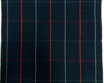 "Burberrys Handkerchief Checks Pattern Hankie 16.5"" X 17.5"""