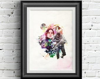 0174 Star Wars Rogue One Jyn Erso Poster A3 Wall Art Print Multiple Sizes