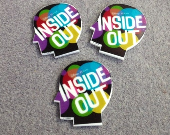 3 Inside Out  cabochons - bow center