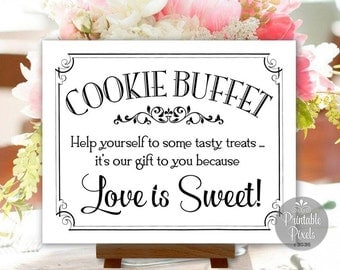 Cookie Buffet Sign Printable Wedding Signs DIY Instant Download (#CKE2B)