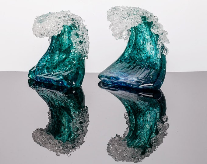 Hand Sculpted Glass Wave