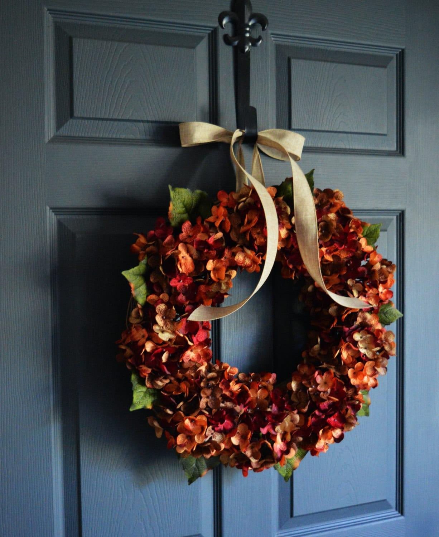 Autumn Wreath | Blended Hydrangea Wreath | Fall Wreaths | Front Door Wreaths  | Outdoor Wreaths