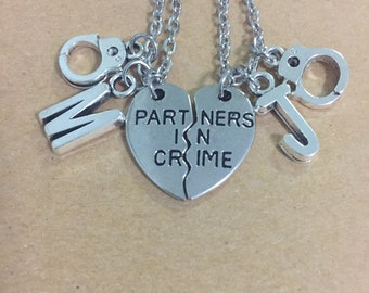 Partners in Crime necklace set with initial