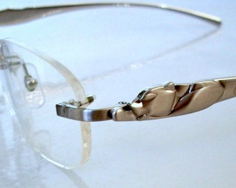 PANTHERE Eyeglass Frame Silver Rimless Glasses. For Men & Women. Inspirations with Cartier. Clear Lens, for your PX.