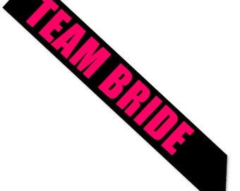 Team Bride Sash