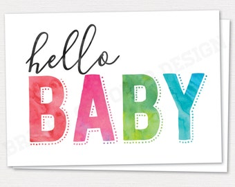 Hello Baby Greeting Card | New Baby Card