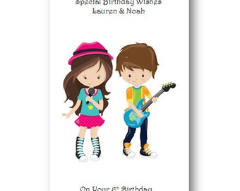 twin birthday cards  etsy uk, Birthday card