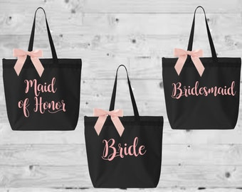bridesmaid tote, bridal tote, monogrammed tote, monogrammed bag, bridesmaid gift, bride bag, personalized tote